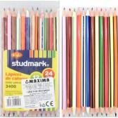 Цветни моливи 12 броя/ 24 цвята