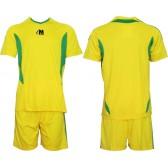 Екип за футбол/ волейбол/ хандбал фланелка с шорти жълто