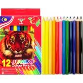 Моливи 12 цвята Джъмбо 5мм графит
