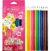 Цветни моливи 12 цвята 17 см