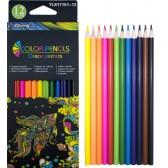 Цветни моливи 12 цвята дълги