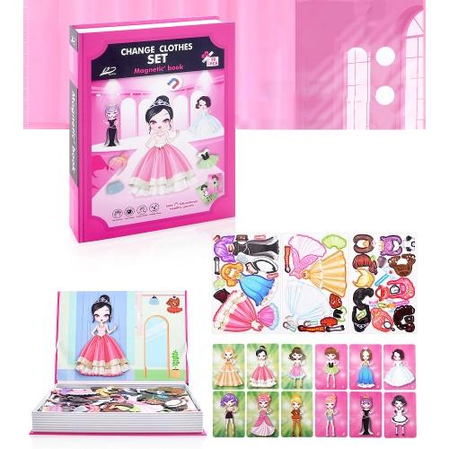 Книга магнитна с кукла за обличане Комплект 50 части