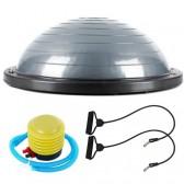 Полутопка за баланс BOSU ball ( Ф58cm) твърда ПВЦ основа и ластици